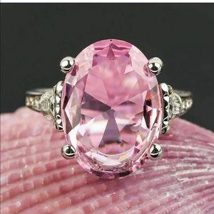 New 925 Silver Turkish Handmade Pink Sapphire Ring